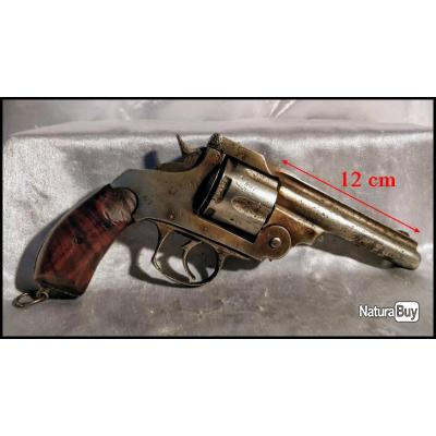 Révolver Ancien Sans Marque, il Fonctionne, Bien Diamètre du canon environ 1 cm.