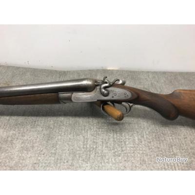 Fusil juxtaposé à chiens calibre 12/65 (catégorie D) artisanal anglais