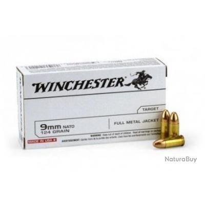 Munitions Winchester Cal.9mm Luger SUPER FMJ 124gr PAR 500