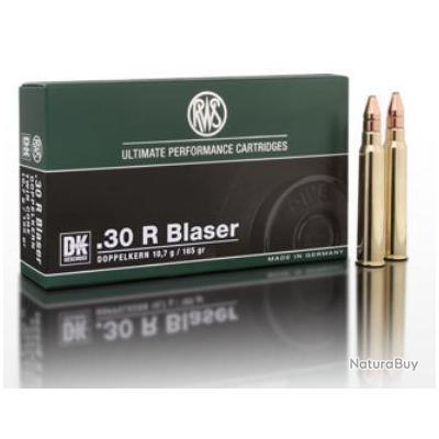 Munitions RWS Cal.30R Blaser DK 10.7g 165gr par 60