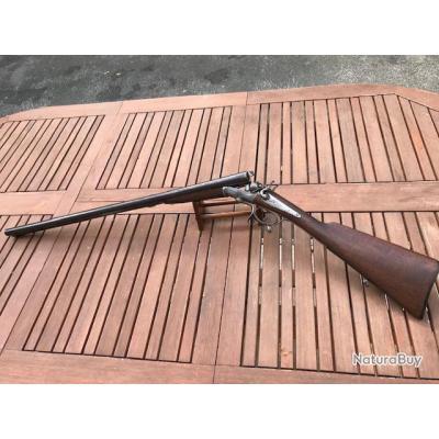 Fusil juxtaposé Artisan Stéphanois à chiens,  calibre 12