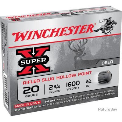 Balles WINCHESTER RIFLED cal 20/70 21GR X 5