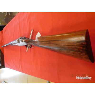 Fusil juxtaposé Artisanal Espagnol d'occasion 70 mm 68 cm, à platines,état  neuf