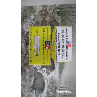 Cartouches 300 WSM GPA 148 gr