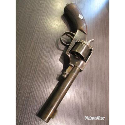 """Revolver réglementaire Suèdois """"A.Francotte Liège"""" modèle 1871"""
