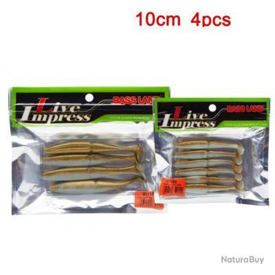 Enchère 1 € !!! Pack 4 Leurres Souple Shad Brown   - 10 cm - 7.5 gr