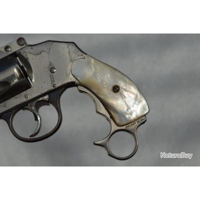 IVER JOHNSON 1896 REVOLVER Coup de Poing 38 S&W DA - US XIXè Bon  U.S.A. XIX eme Civil Categorie D
