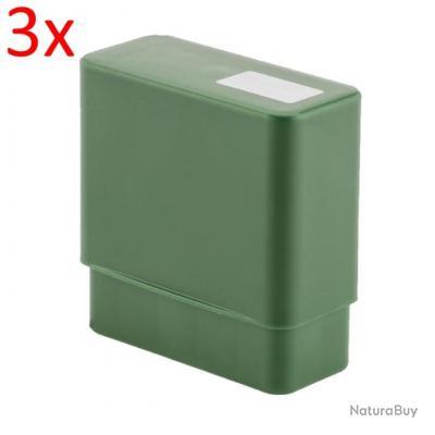 Lot de 3 boîtes de rangement 10 cartouches calibres: 30-06 / 308 Win / 9.3x74mmR