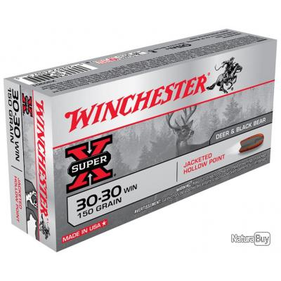 Munitions Winchester 30-30 150 Grs Hollow Point
