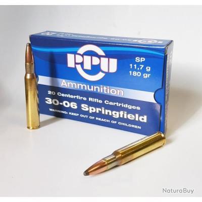 x100 Munitions partizan 30-06 Springfield 180-Grs. SP PROMO PARTIZAN!