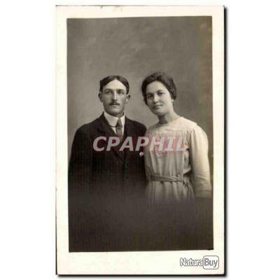 CARTE PHOTO Fantaisie - Couple - Carte Postale Ancienne