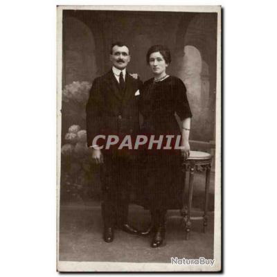 CARTE PHOTO Fantaisie - Couple - Carte Postale Ancienne