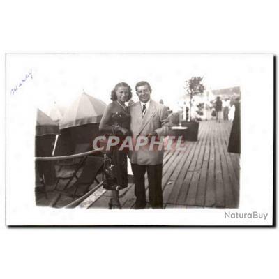 CARTE PHOTO Fantaisie - Happy Couple - Carte Postale Ancienne