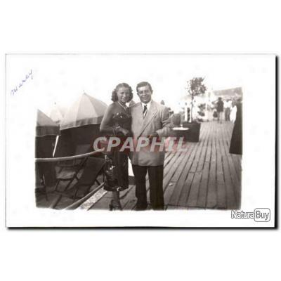 CARTE PHOTO Fantaisie - Happy Couple - Carte Postale Ancienne