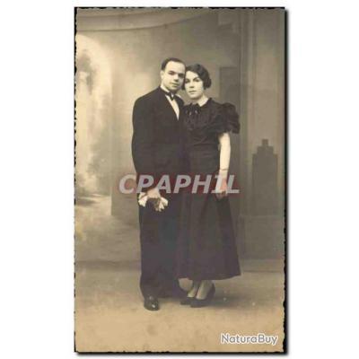 CARTE PHOTO Fantaisie - Close Couple - Carte Postale Ancienne