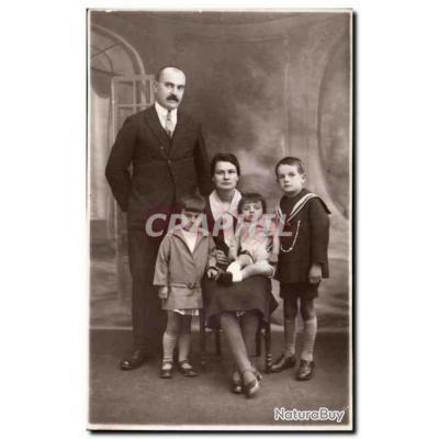 CARTE PHOTO Fantaisie - couple - proud family - Carte Postale Ancienne