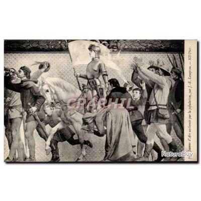 Carte Postale Ancienne Jeanne d&#39arc acclamee par la population par Lenepveu