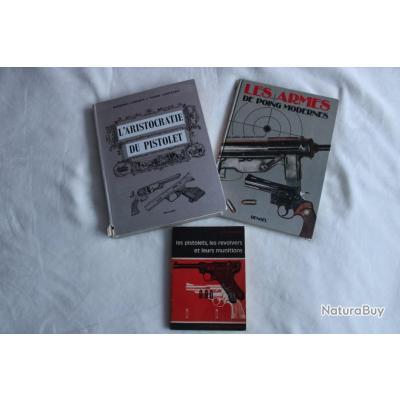 Lot 3 ouvrages pistolets et révolvers