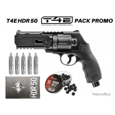 Pack Promo Revolver Umarex®  T4E HDR 50 co2 billes caoutchouc 11 joules