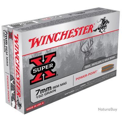 CART. WINCHESTER POWER POINT CAL. 7 MM REM MAGNUM 150GR 9,72 G BTE 20