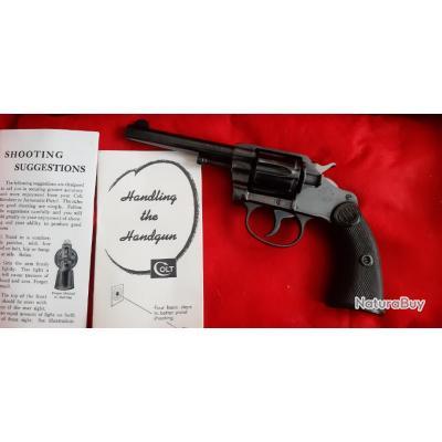Rarissime ! Etat Exception !Police de Détroit Superbe Colt 32.SW New Police Bleu Quasi Neuf.