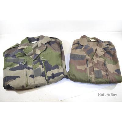 Lot x2 veste taille 88 (S) militaire Armée Française camouflée F1 chasse pêche surplus militaire (A)