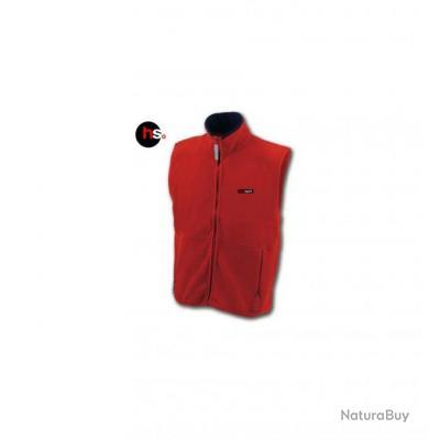 Gilet Polaire Chauffant Homme Kernok Rouge