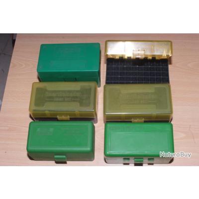 Lot de 6 boites vides pour munitions
