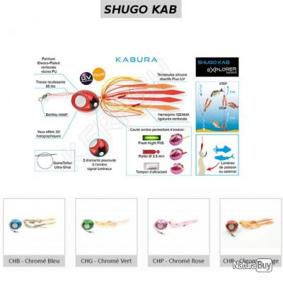 SHUGO KAB KABURA EXPLORER TACKLE 20 g Chromé Rouge