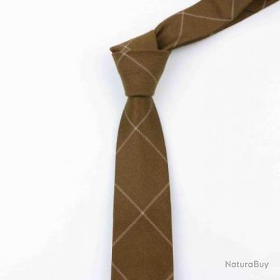 Cravate Wyatt Square Marron