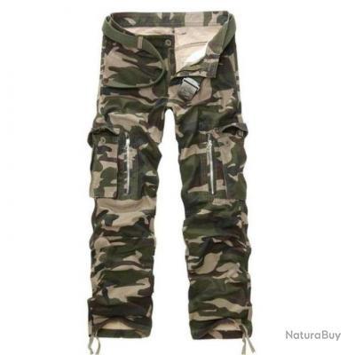 Pantalon cargo Volgins Origine Camos Camo Vert