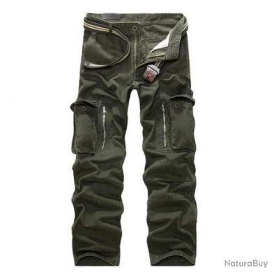 Pantalon cargo Volgins Origine Uni Vert