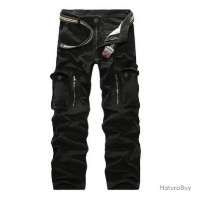 Pantalon cargo Volgins Origine Uni Noir