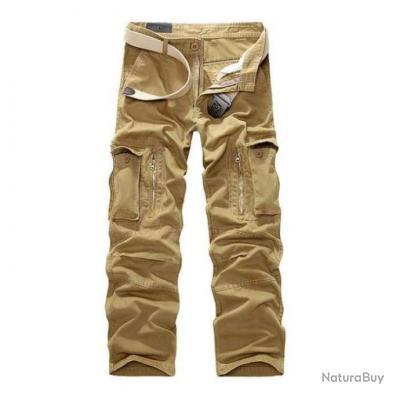 Pantalon cargo Volgins Origine Uni Beige