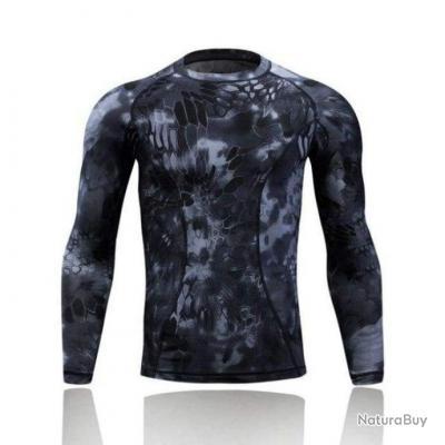 T shirt manches longues Refire Tac Python noir