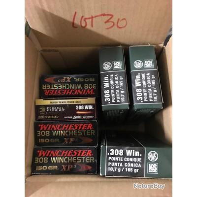 munitions de calibre 308 win