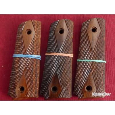 Colt 1911   plaquettes bois - repro vraiment TOP qualité AMERICAN HARDWOOD fabriquee Allemande