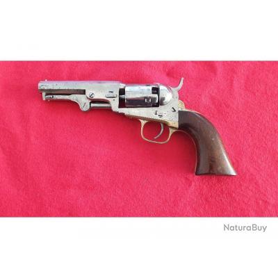 Colt Pocket 1849, calibre 31, nickelé, Fabriqué en 1860