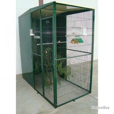 Volière de jardin 2x1x2m cage oiseau VOLIERE PERRUCHE voliere canari voliere inseparable NEUF 13O