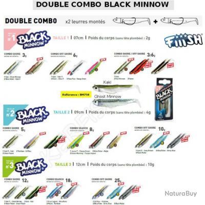 DOUBLE COMBO BLACK MINNOW FIIISH 7 cm / 3 g Kaki - Ghost Minnow