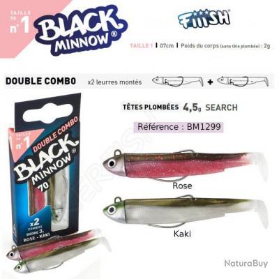 DOUBLE COMBO BLACK MINNOW FIIISH 7 cm / 4.5 g Rose - Kaki