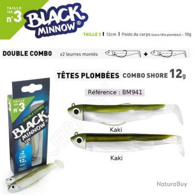 DOUBLE COMBO BLACK MINNOW FIIISH Kaki 12 cm / 12 g