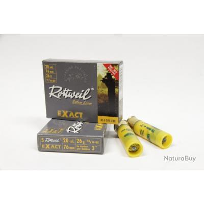 2 Boites de 5 Balles Calibre 20/76 Rottweil EXACT Magnum