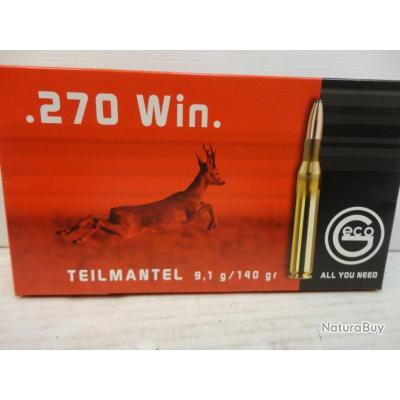 """AXEL N2741- 1 BOITE DE 20 BALLES GECO """"TEILMANTEL"""" CAL.270 WIN - 140GR - NEUF SUPER PROMO!!!!"""
