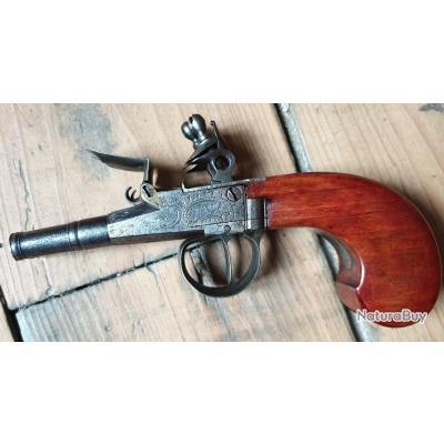 Pistolet silex double canons