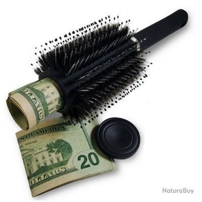 Cachette secrète camouflée en brosse à cheveux