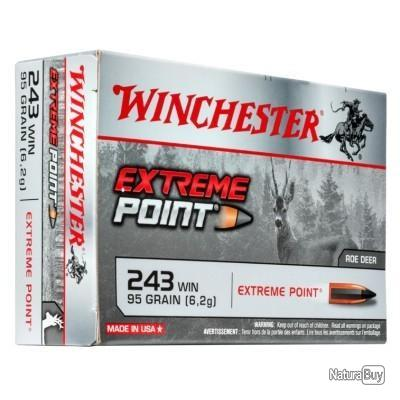 20 MUNITIONS WINCHESTER 243 WIN 95 GRAINS EXTREME POINT