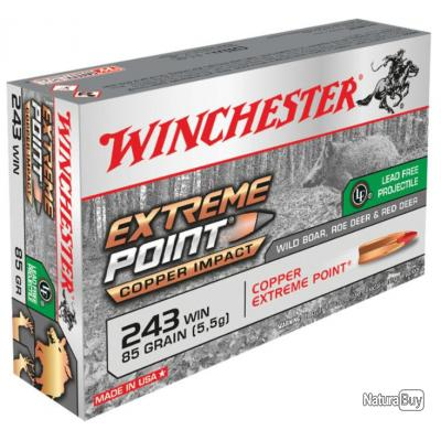 20 MUNITIONS WINCHESTER EXTREME POINT LEAD FREE 243 WIN 85GR