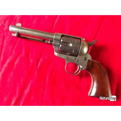 """Exceptionnel ! Colt SAA 1873 cal. 44/40 winch 4""""3/4 """"Etched Panel"""" (222)"""