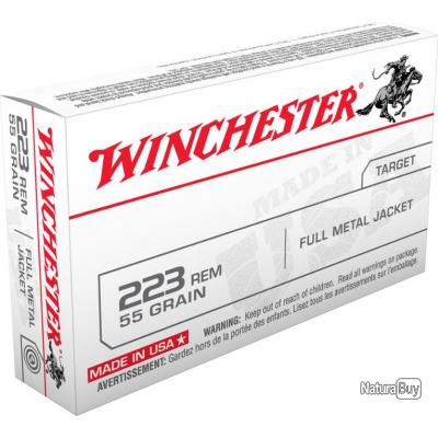 MUNITIONS WINCHESTER FULL METAL JACKET CAL 223REM 55GR